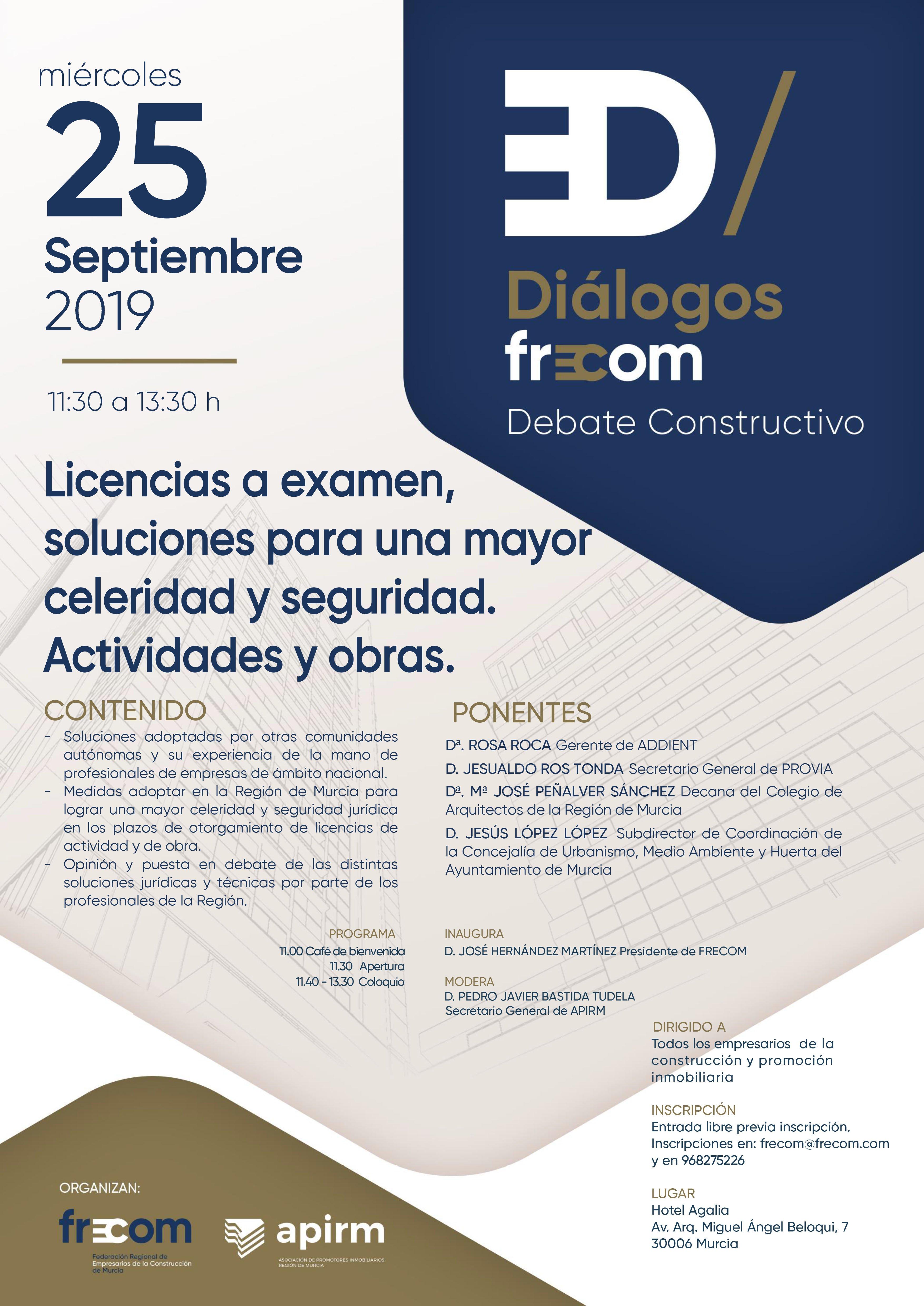 Diálogos FRECOM convoca al sector a debatir sobre licencias 3 FRECOM