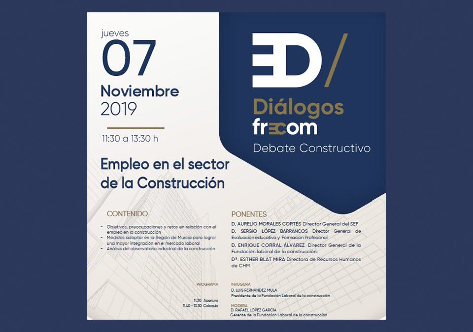FRECOM convoca al sector a debatir sobre el empleo en la construcción 16 FRECOM
