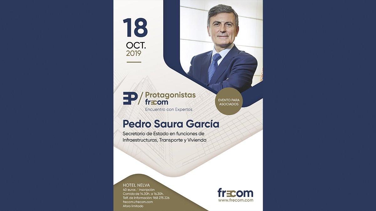 El Secretario de estado de infraestructuras, transporte y vivienda debatirá con los asociados en el próximo Protagonistas FRECOM 2 FRECOM