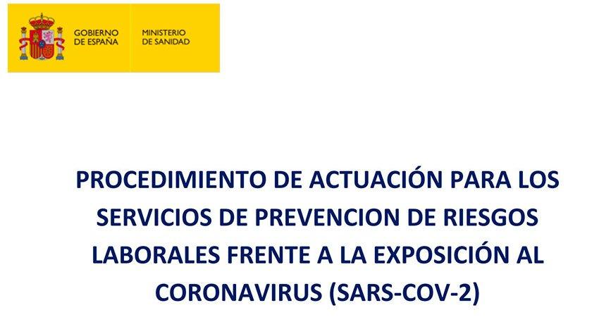 El Ministerio de Sanidad actualiza el procedimiento de actuación para servicios de prevención de riesgos laborales frente a la exposición al COVID-19 2 FRECOM