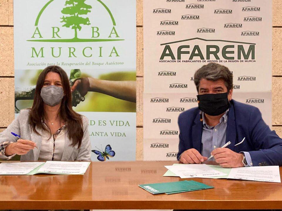 AFAREM y ARBA suscriben un acuerdo para la reforestación de las canteras de la Región de Murcia