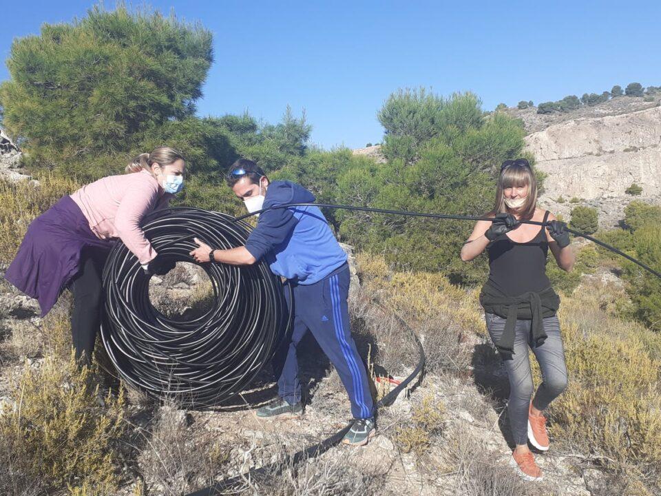 AFAREM y ARBA-Murcia inician los trabajos para la reforestación de la cantera abandonada de Los Ásperos
