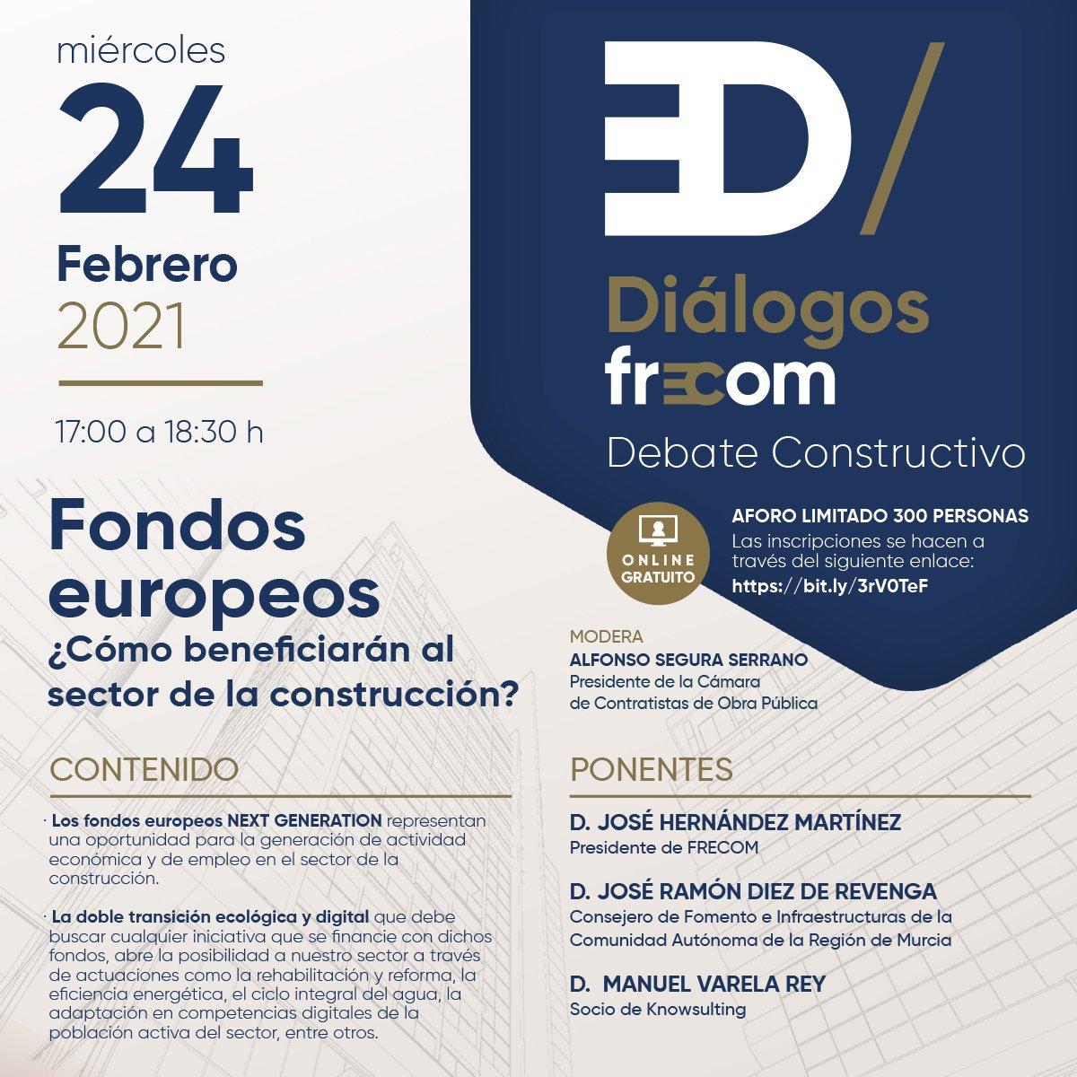 Una nueva edición de 'Diálogos FRECOM' aborda los Fondos Europeos de recuperación y sus beneficios para el sector de la construcción 1 FRECOM