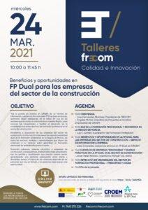 Talleres FRECOM trata los beneficios y oportunidades de la FP Dual para las empresas de la construcción 1 FRECOM