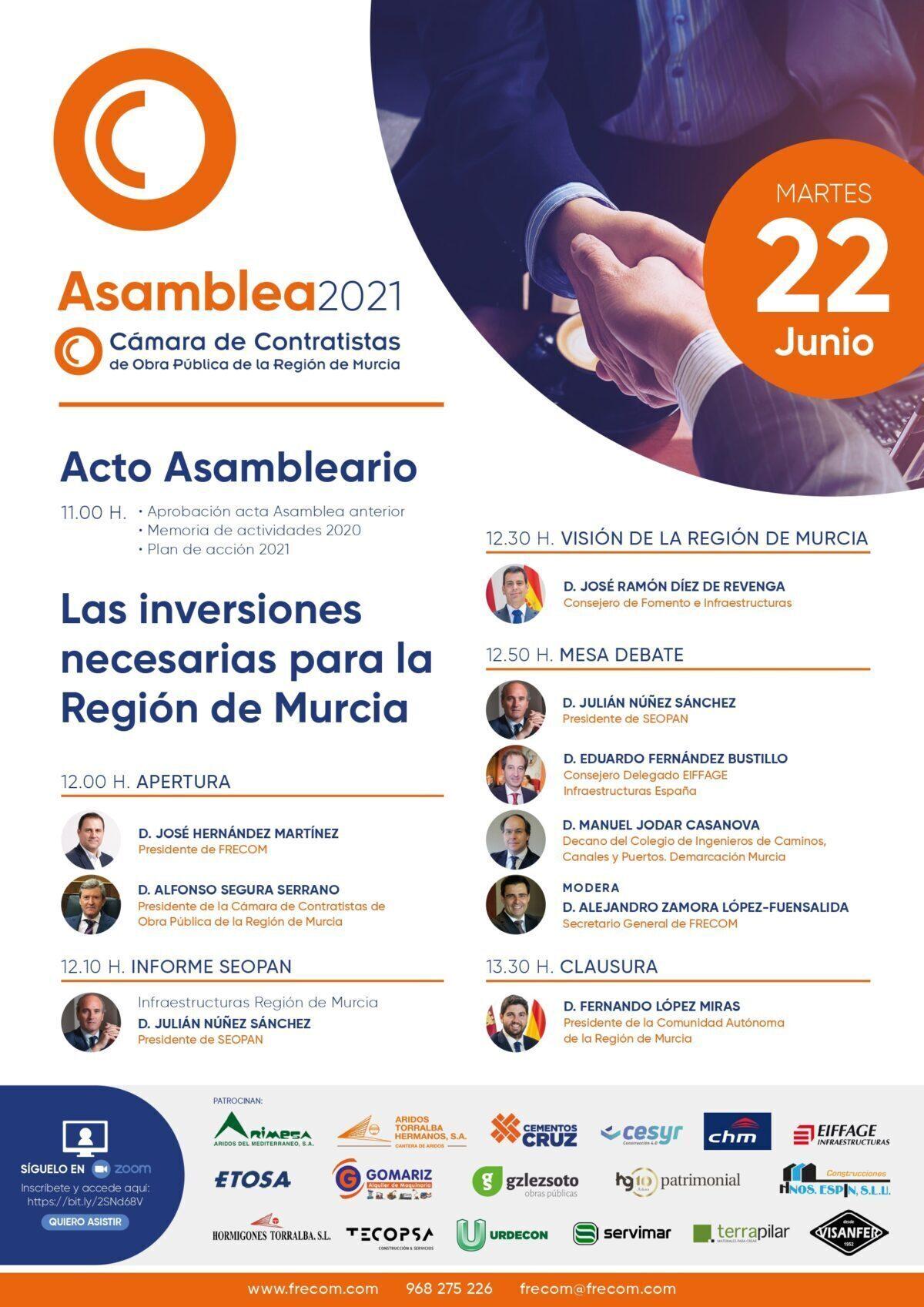 La Cámara de Contratistas de Obra Pública de la Región de Murcia celebra su Asamblea General el 22 de junio 2 FRECOM