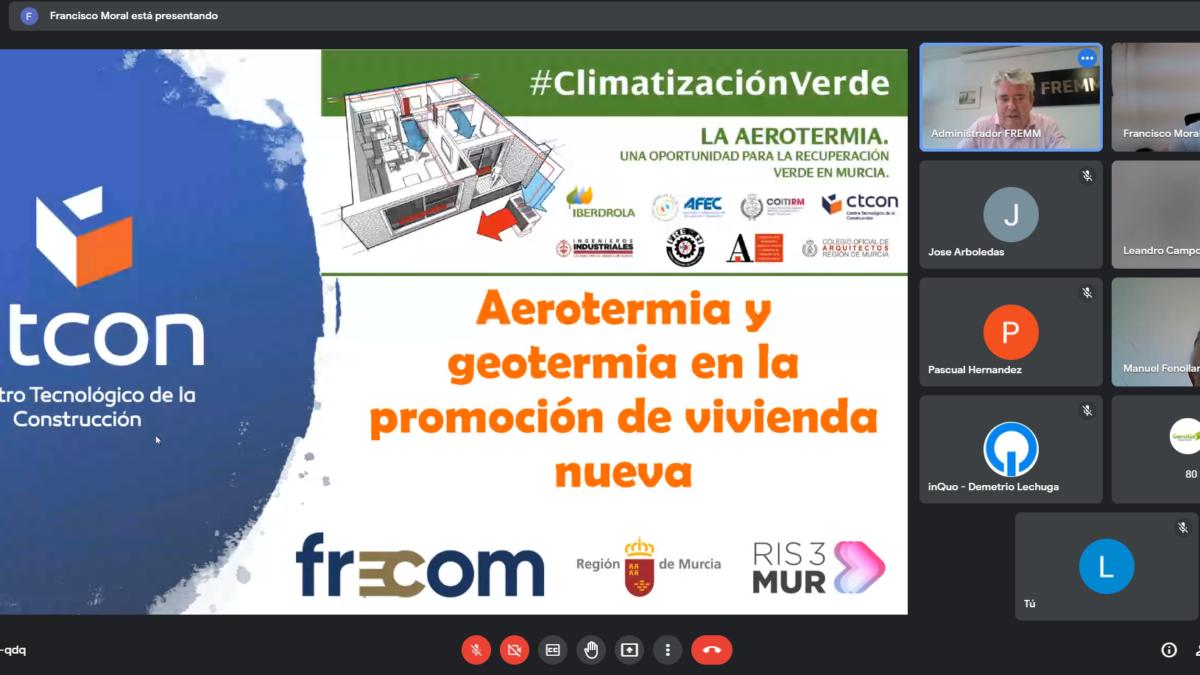 La bomba de calor aerotérmica, una oportunidad para la recuperación verde de la Región de Murcia 2 FRECOM