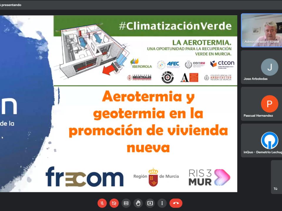 La bomba de calor aerotérmica, una oportunidad para la recuperación verde de la Región de Murcia 23 FRECOM