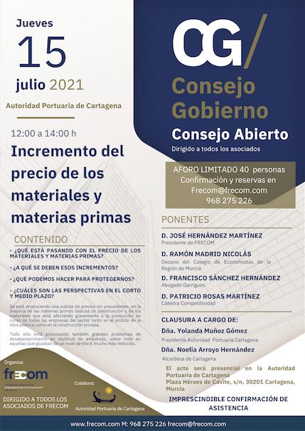 FRECOM celebrará su Consejo de Gobierno abierto a los asociados en la sede de la Autoridad Portuaria de Cartagena 14 FRECOM