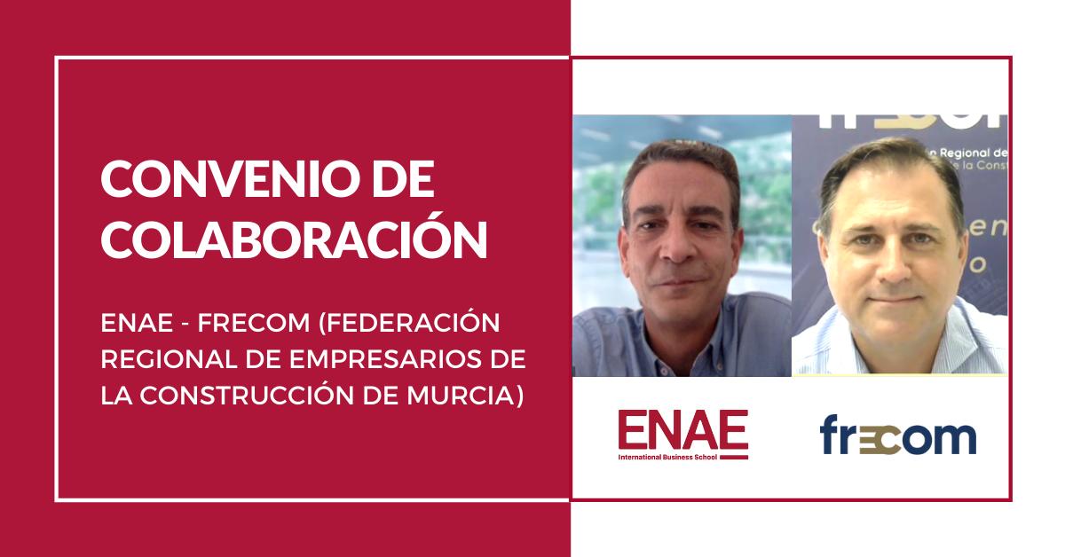 ENAE Business School y FRECOM firman un convenio de colaboración para ofrecer importantes descuentos a las empresas asociadas. 2 FRECOM