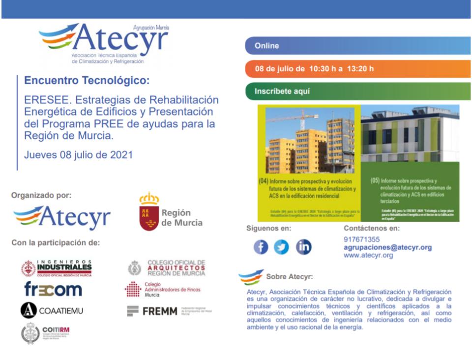 A partir de las 10,30 se desarrollará la jornada sobre las ayudas a la rehabilitación energética de edificios 25 FRECOM