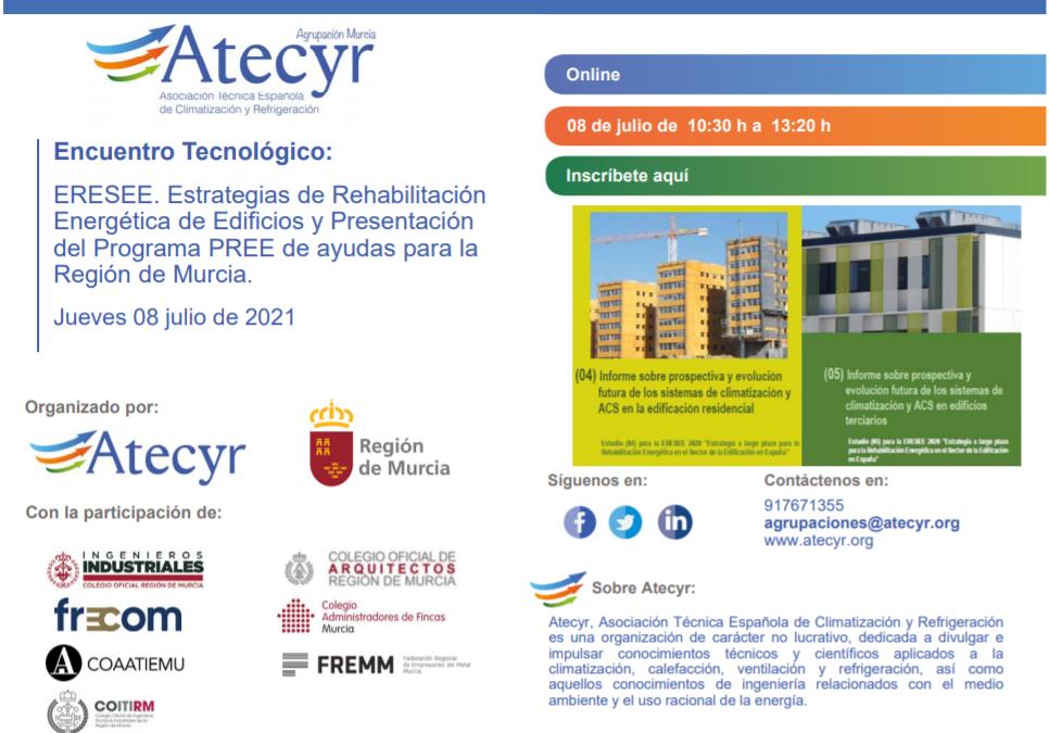 A partir de las 10,30 se desarrollará la jornada sobre las ayudas a la rehabilitación energética de edificios 2 FRECOM