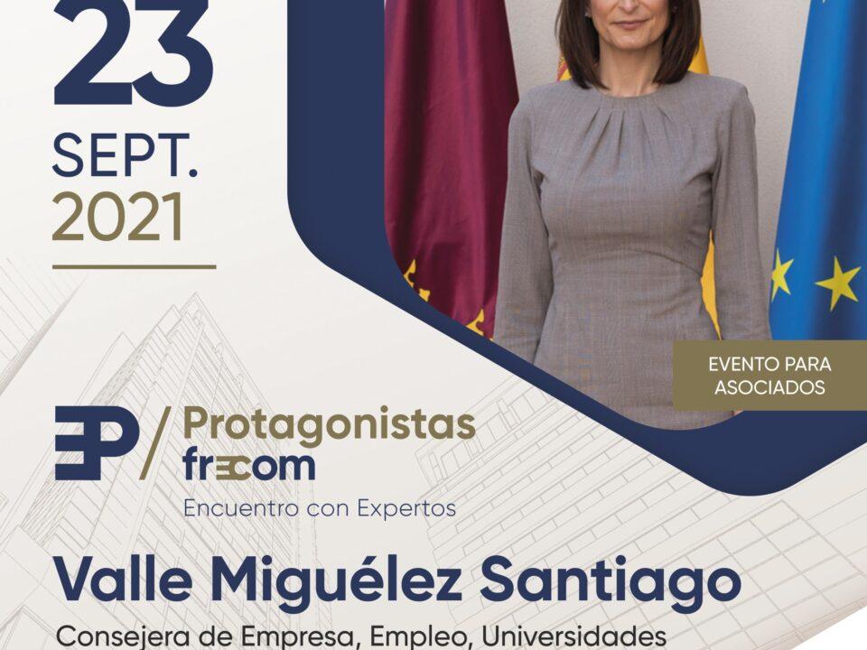 """Valle Miguélez, consejera de Empresa, Empleo, Universidades y Portavocía, próxima invitada en """"Protagonistas FRECOM"""" 8 FRECOM"""