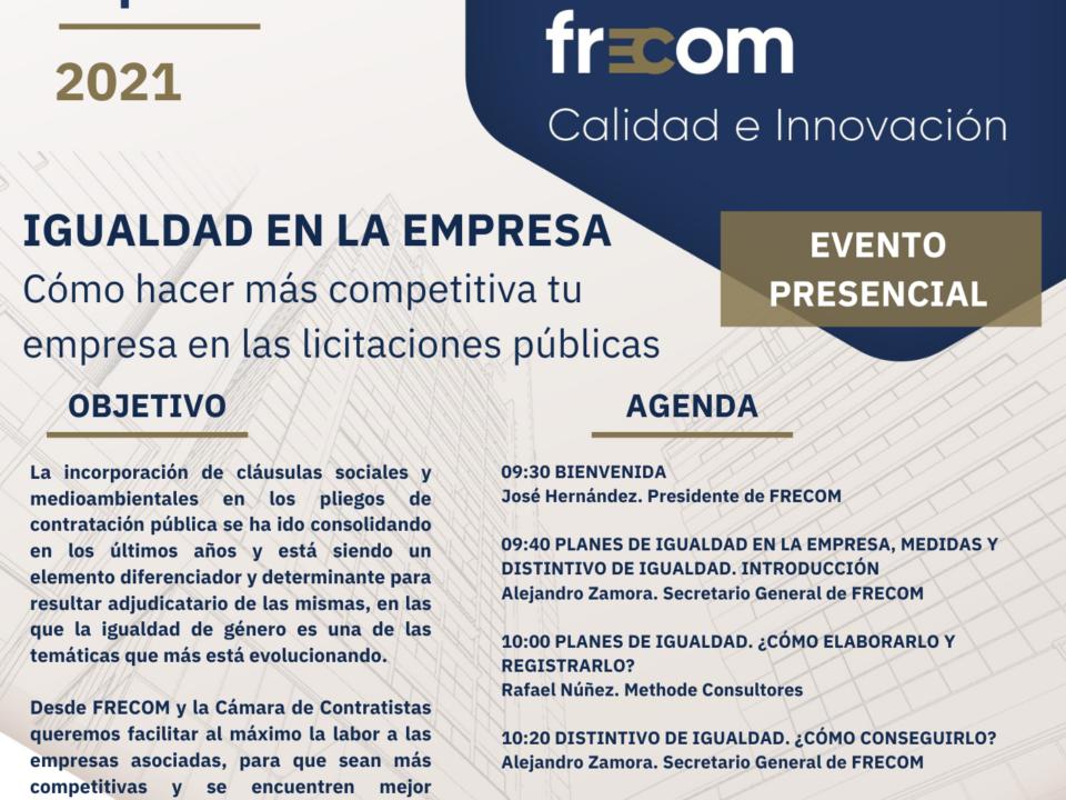 Regresa Talleres FRECOM con una jornada sobre Igualdad en la empresa 4 FRECOM