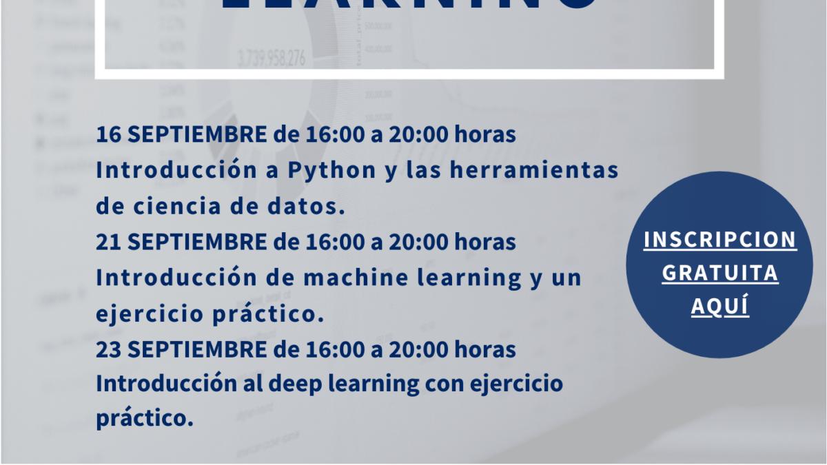 CTCON organiza un curso sobre Machine Learning 2 FRECOM