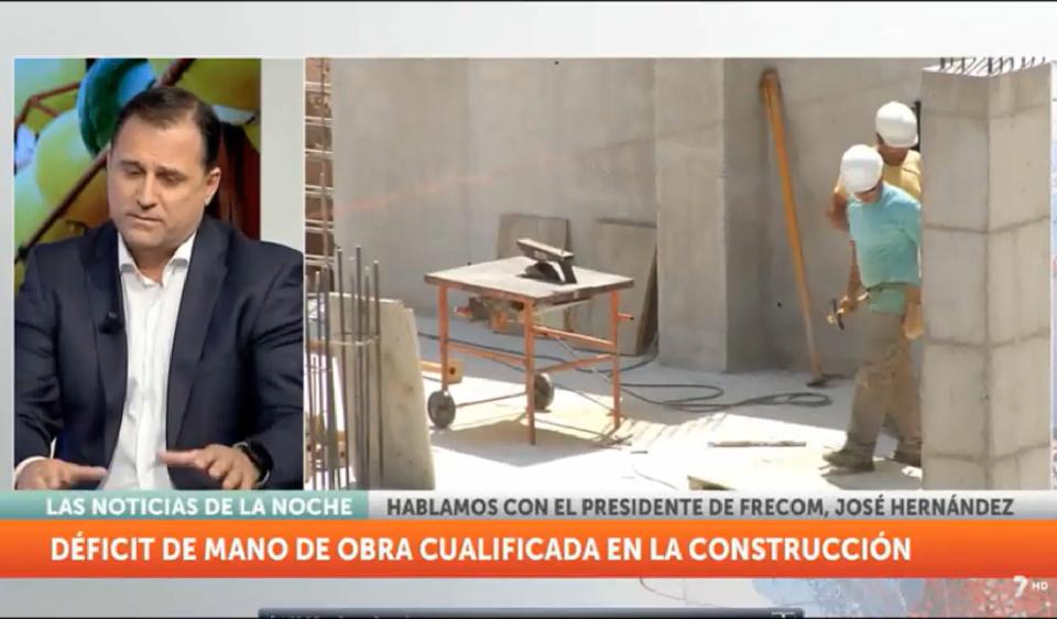Entrevista a José Hernández, presidente de FRECOM, en 7 Televisión Región de Murcia 15 FRECOM