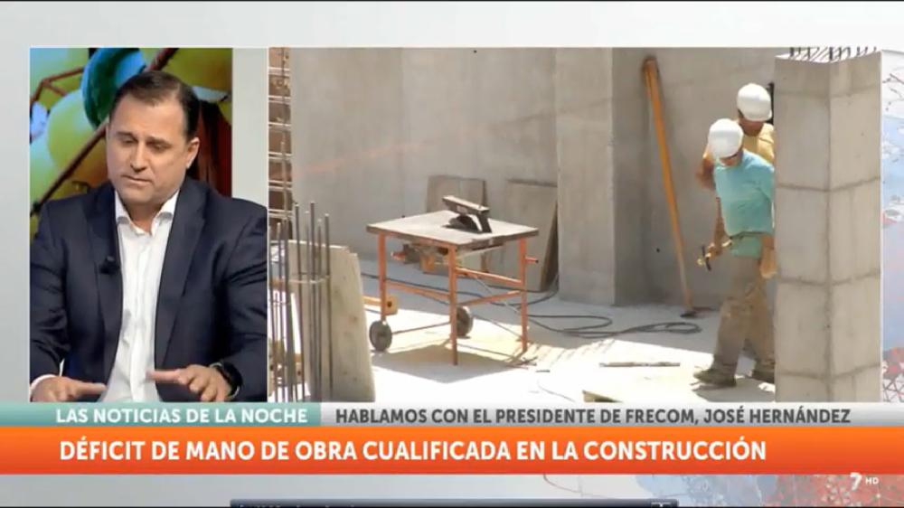 Entrevista a José Hernández, presidente de FRECOM, en 7 Televisión Región de Murcia 2 FRECOM